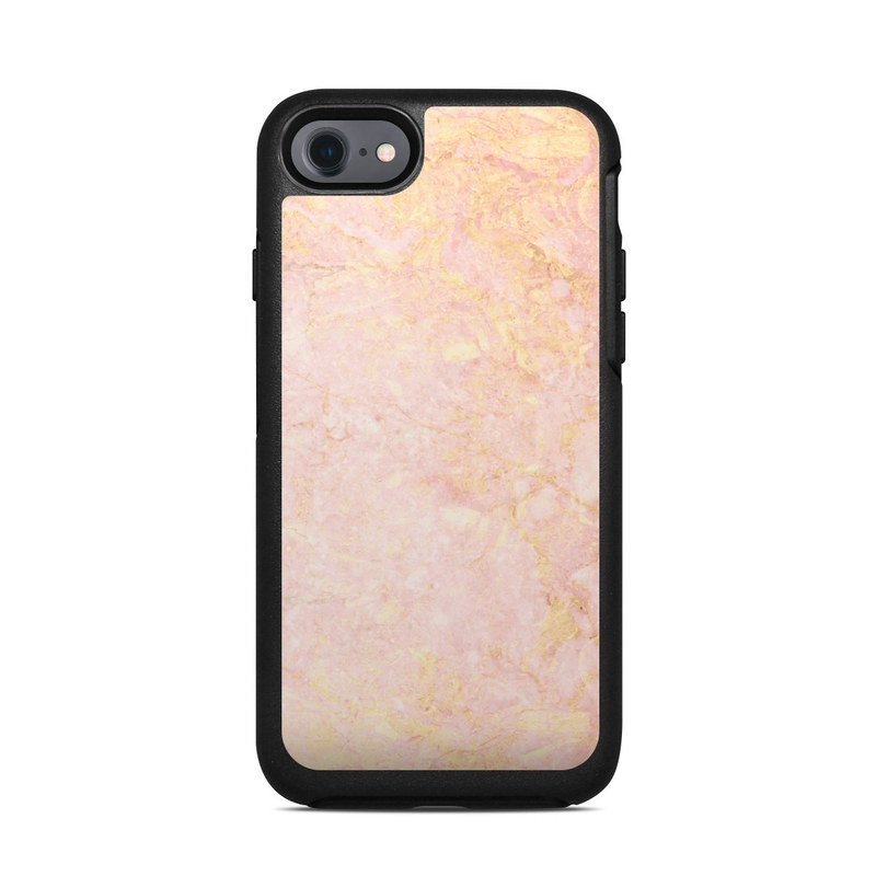Rose Gold Marble OtterBox Symmetry iPhone 7 Skin