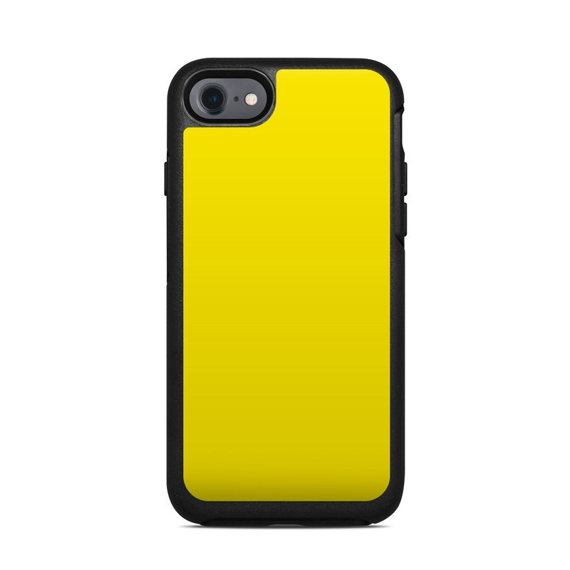 OtterBox Symmetry iPhone 8 Case Skin design of Green, Yellow, Orange, Text, Font with yellow colors