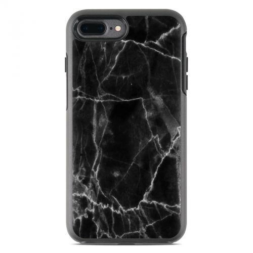 Black Marble OtterBox Symmetry iPhone 8 Plus Case Skin