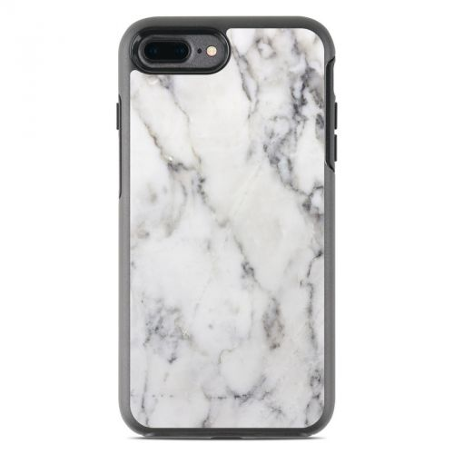 White Marble OtterBox Symmetry iPhone 8 Plus Case Skin