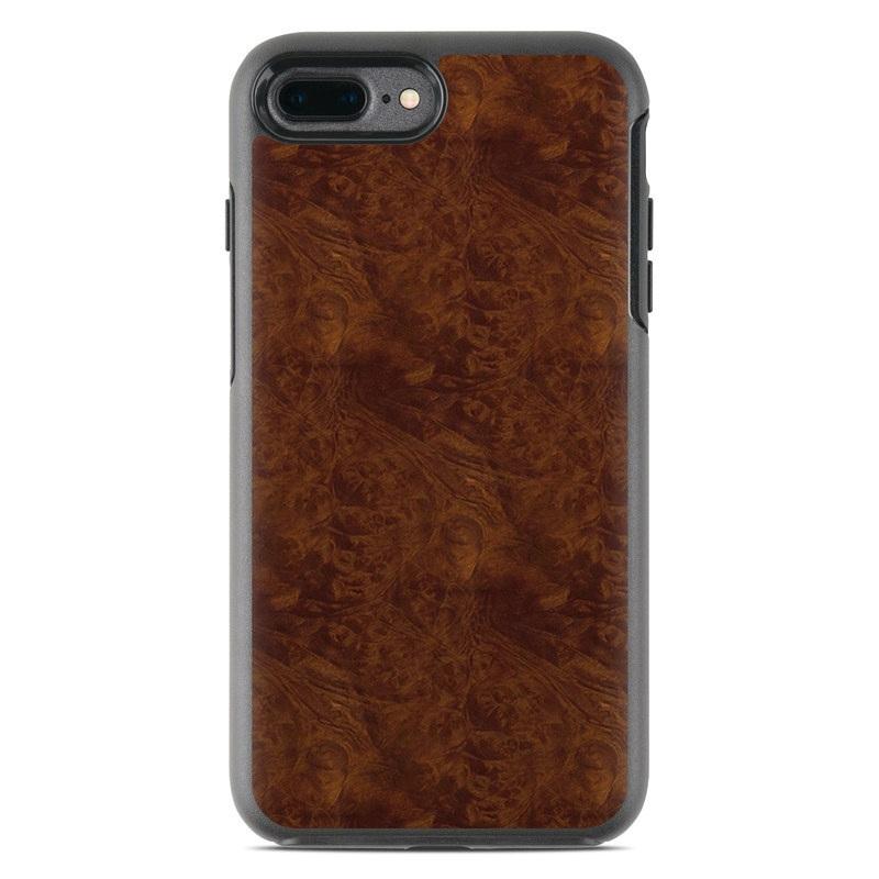 Dark Burlwood OtterBox Symmetry iPhone 7 Plus Skin