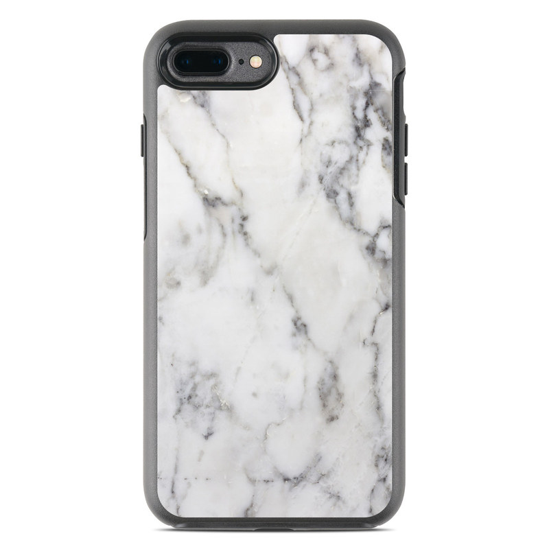 sale retailer 3c863 b3bf9 White Marble OtterBox Symmetry iPhone 8 Plus Case Skin