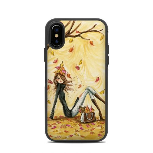 Autumn Leaves OtterBox Symmetry iPhone X Skin