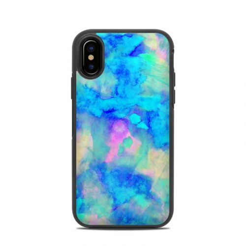 Electrify Ice Blue OtterBox Symmetry iPhone X Case Skin