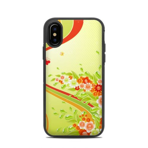 Flower Splash OtterBox Symmetry iPhone X Skin