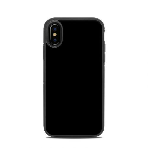 Solid State Black OtterBox Symmetry iPhone X Skin