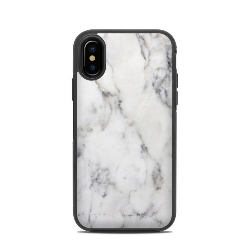 White Marble OtterBox Symmetry iPhone X Skin