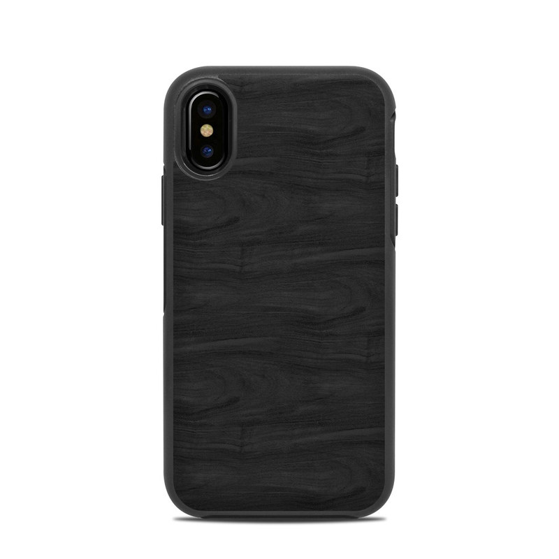 Black Woodgrain OtterBox Symmetry iPhone X Case Skin