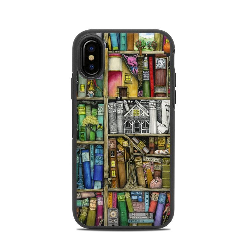 Bookshelf OtterBox Symmetry iPhone X Case Skin