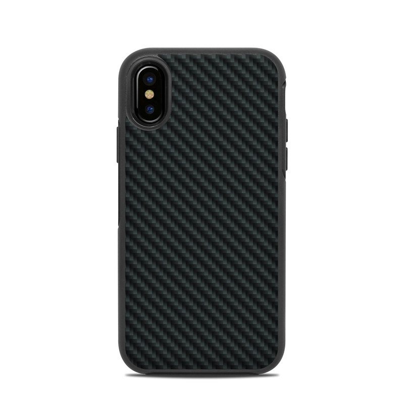 Carbon OtterBox Symmetry iPhone X Case Skin