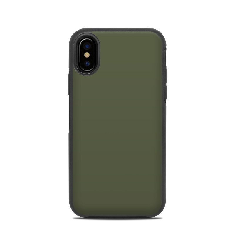 competitive price bc7ad dac4e Solid State Olive Drab OtterBox Symmetry iPhone X Case Skin