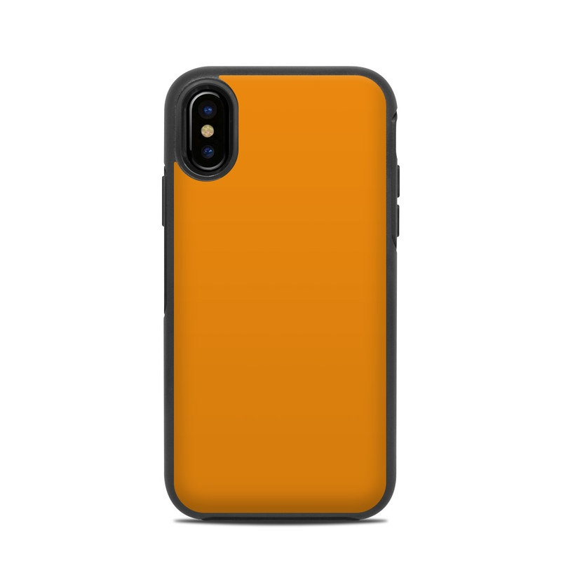 aac01594bc OtterBox Symmetry iPhone X Case Skin design of Orange, Yellow, Brown, Text,