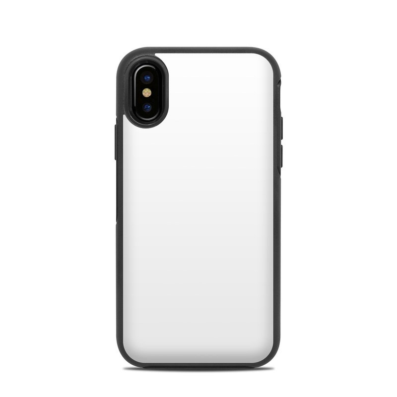 Solid State White OtterBox Symmetry iPhone X Case Skin