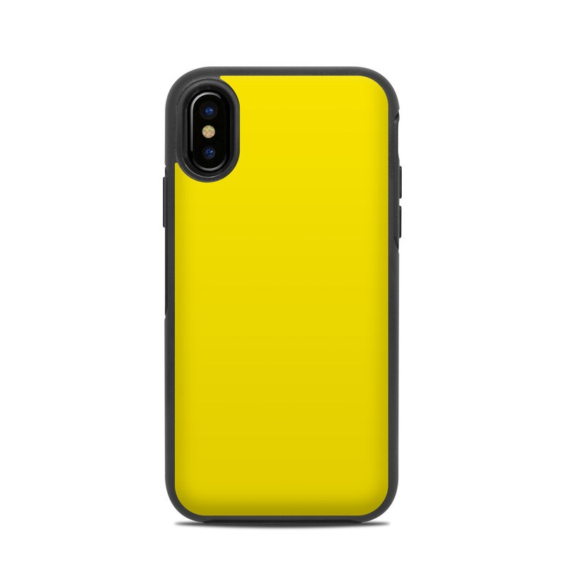 9440afea58 OtterBox Symmetry iPhone X Case Skin design of Green, Yellow, Orange, Text,