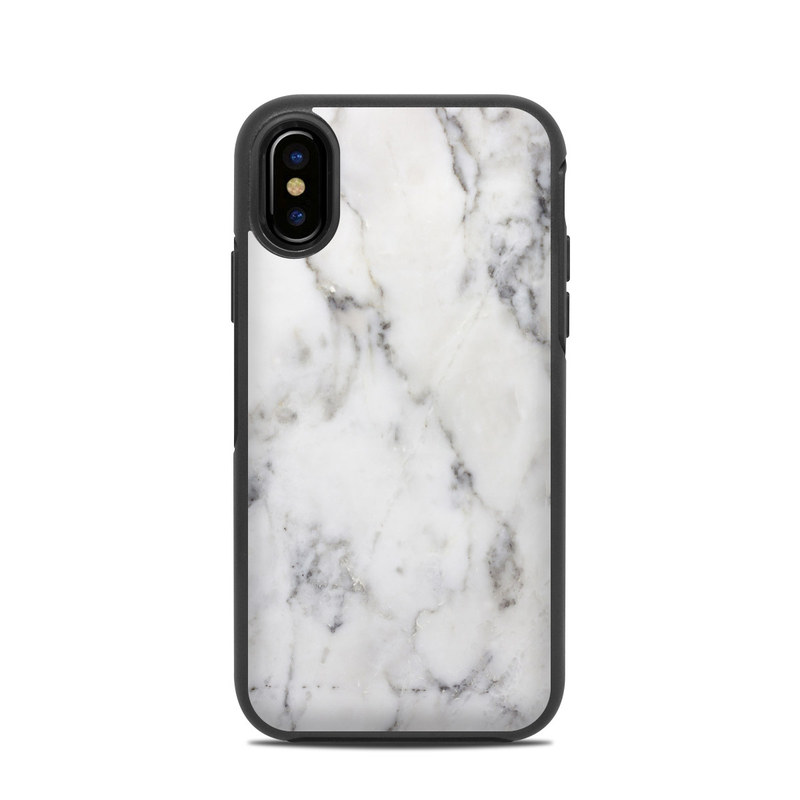 White Marble OtterBox Symmetry iPhone X Case Skin