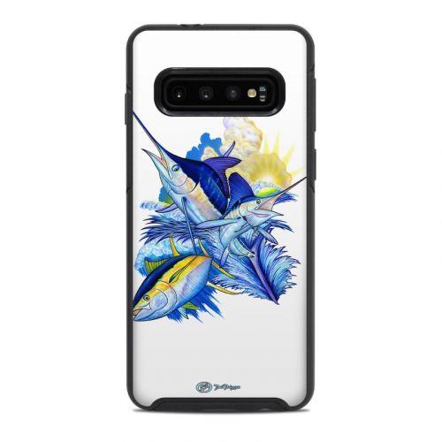 Blue White and Yellow OtterBox Symmetry Galaxy S10 Case Skin