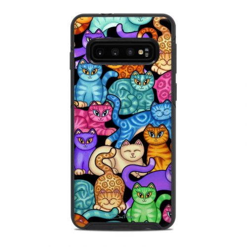 Colorful Kittens OtterBox Symmetry Galaxy S10 Case Skin