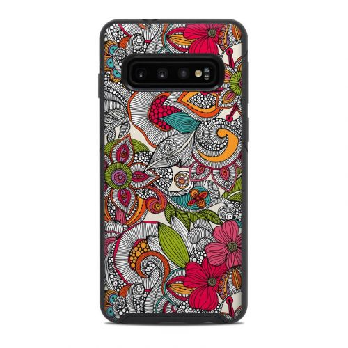 Doodles Color OtterBox Symmetry Galaxy S10 Case Skin