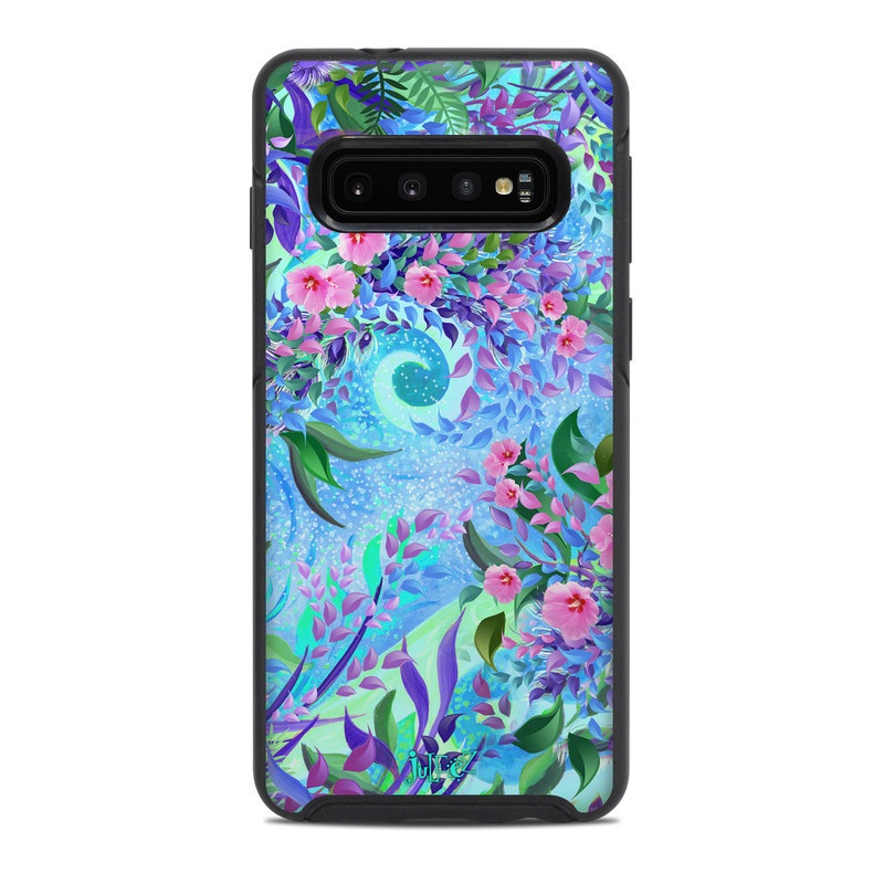 OtterBox Symmetry Galaxy S10 Case Skin design of Psychedelic art, Pattern, Lilac, Purple, Art, Pink, Design, Fractal art, Visual arts, Organism with gray, blue, purple colors