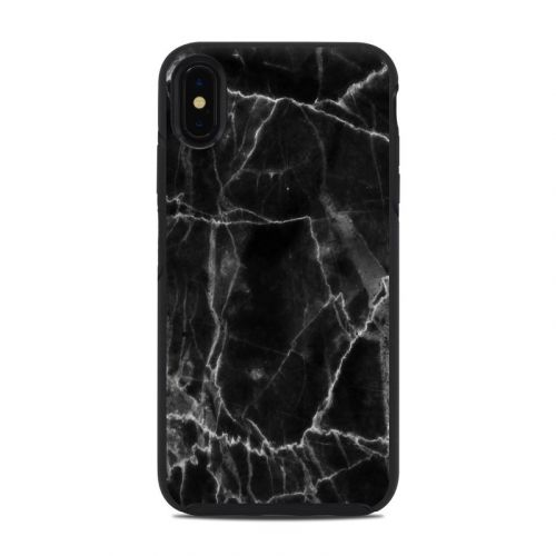 Black Marble OtterBox Symmetry iPhone XS Max Case Skin