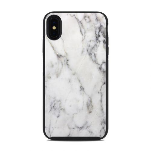 White Marble OtterBox Symmetry iPhone XS Max Case Skin