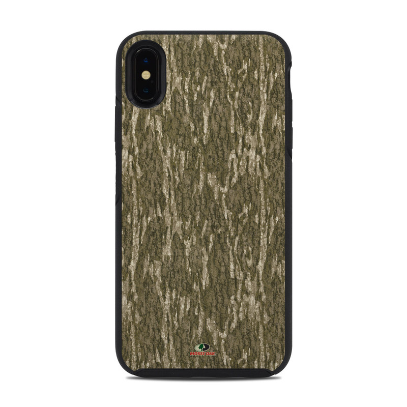 OtterBox Symmetry iPhone XS Max Case Skin design of Grass, Brown, Grass family, Plant, Soil with black, red, gray colors