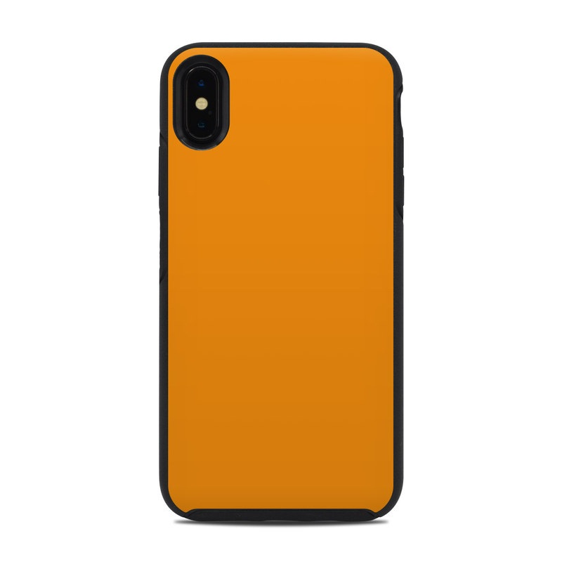 OtterBox Symmetry iPhone XS Max Case Skin design of Orange, Yellow, Brown, Text, Amber, Font, Peach with orange colors
