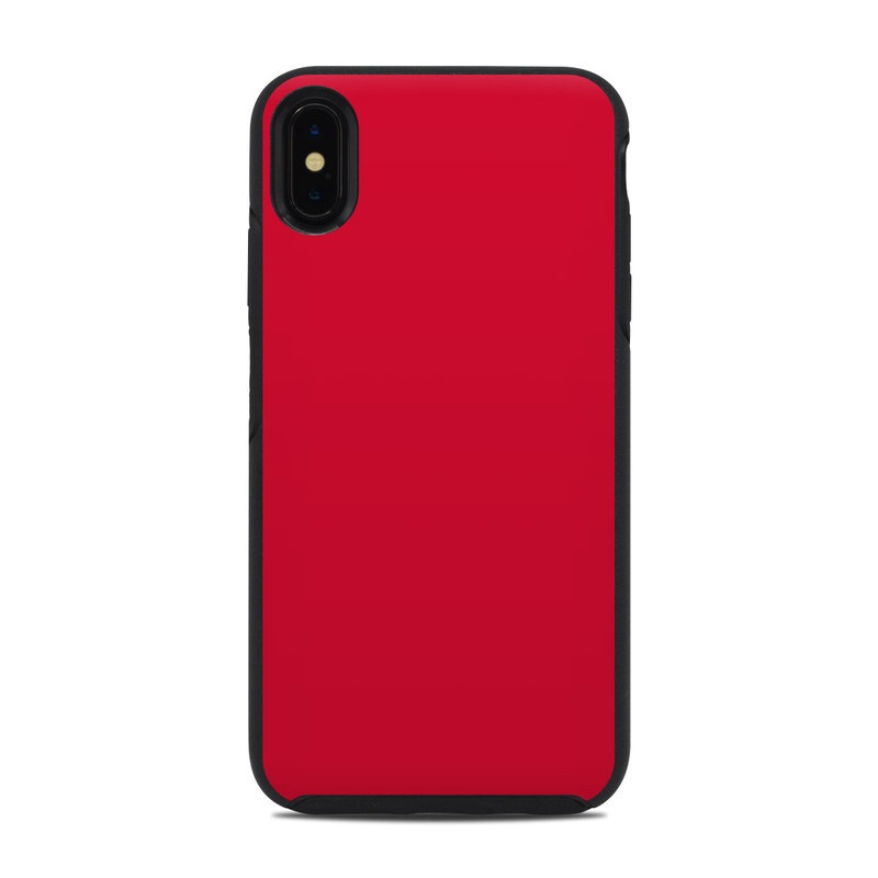 OtterBox Symmetry iPhone XS Max Case Skin design of Red, Pink, Maroon, Purple, Orange, Violet, Magenta, Material property, Font, Peach with red colors