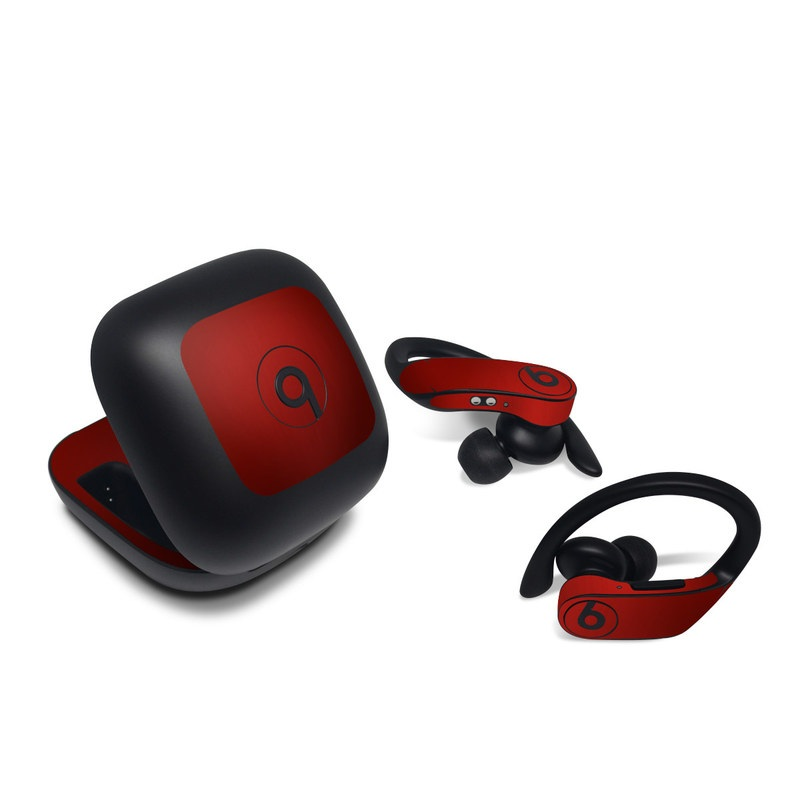 Beats Powerbeats Pro Skin design of Red, Maroon, Orange, Brown, Peach, Pattern, Magenta with red colors