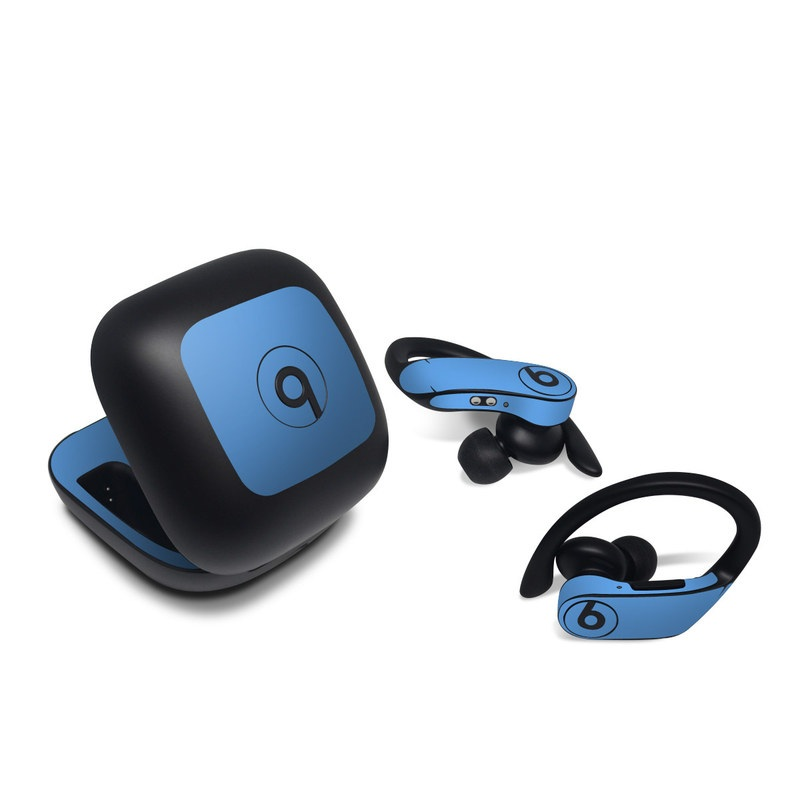 Beats Powerbeats Pro Skin design of Sky, Blue, Daytime, Aqua, Cobalt blue, Atmosphere, Azure, Turquoise, Electric blue, Calm with blue colors