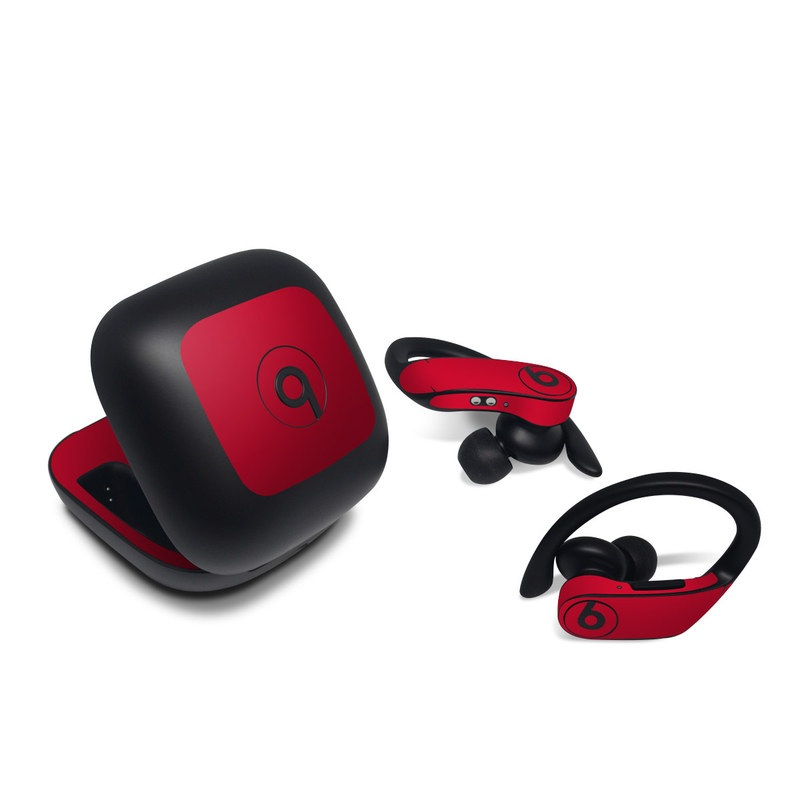 Beats Powerbeats Pro Skin design of Red, Pink, Maroon, Purple, Orange, Violet, Magenta, Material property, Font, Peach with red colors