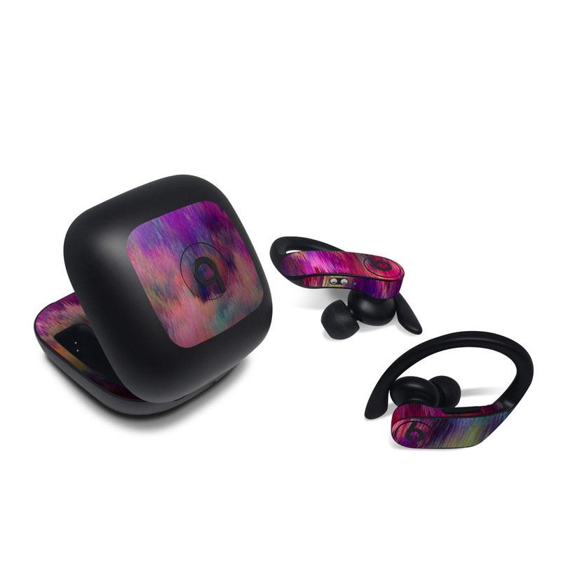 Beats Powerbeats Pro Skin design of Sky, Purple, Pink, Blue, Violet, Painting, Watercolor paint, Lavender, Cloud, Art with red, blue, purple, orange, green colors