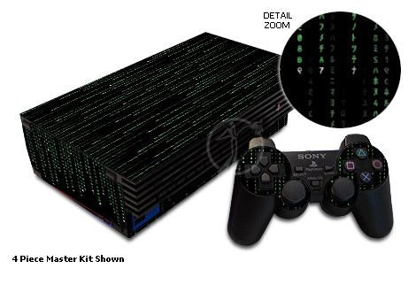 Matrix-Style Code Old PS2 Skin
