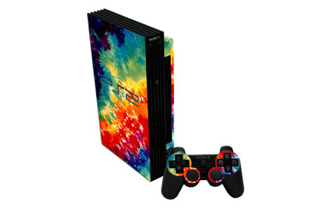 Tie-Dyed Old PS2 Skin