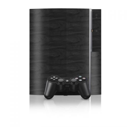 Black Woodgrain PS3 Skin