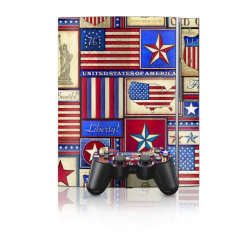 Flag Patchwork PS3 Skin
