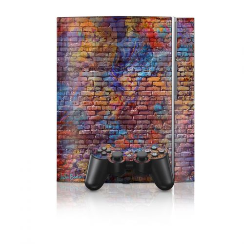 Painted Brick PS3 Skin