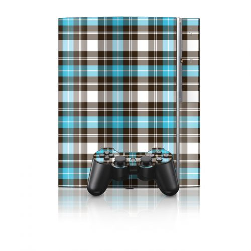 Turquoise Plaid PS3 Skin