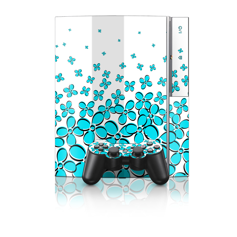 Old PS3 Skin design of Blue, Aqua, Turquoise, Green, Pattern, Teal, Azure, Line, Design, Circle with white, blue, gray, black colors
