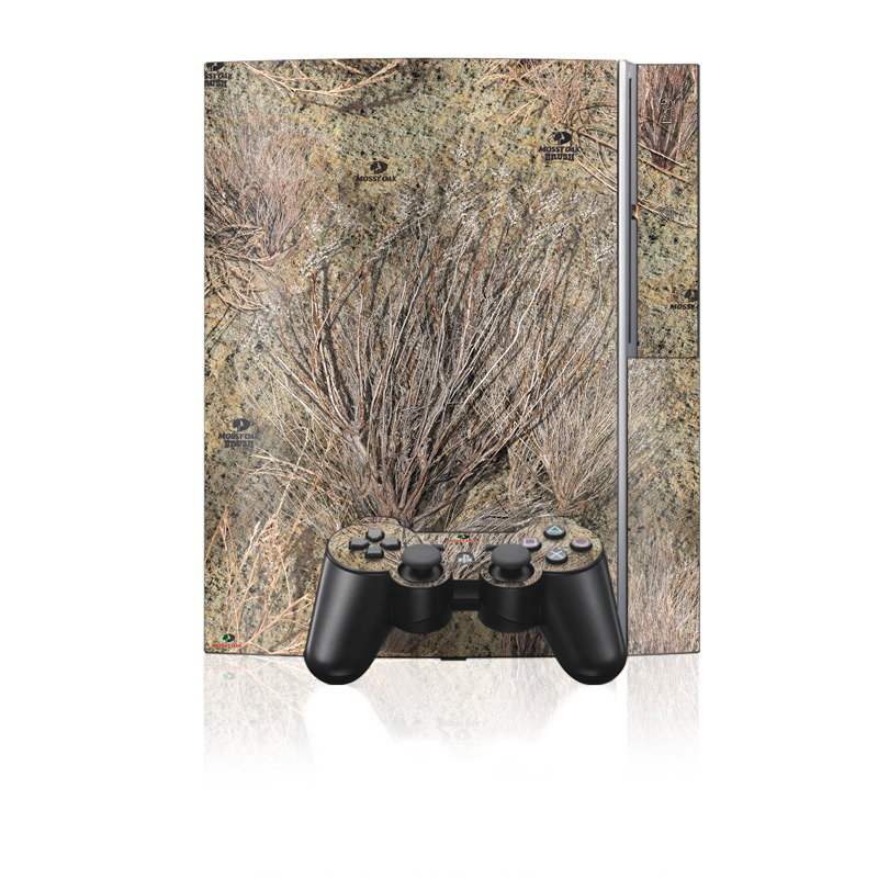 Old PS3 Skin design of Tree, Grass family, Soil, Plant, Grass, Branch with gray, green, black, red colors