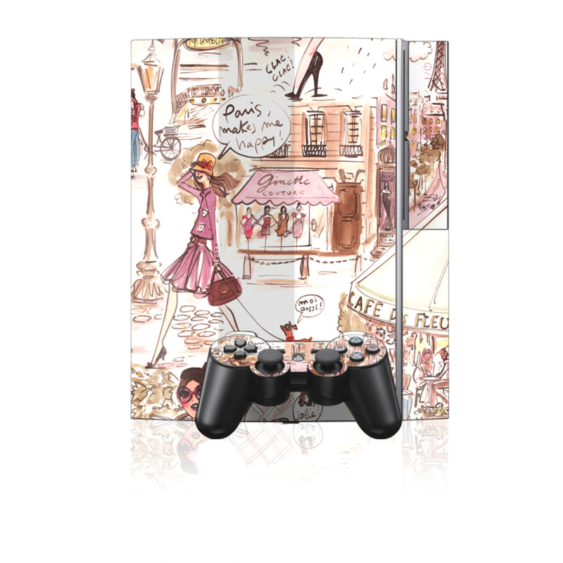 Paris Makes Me Happy PS3 Skin