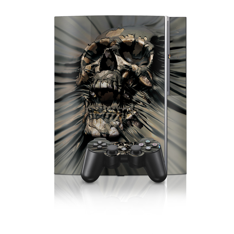 Old PS3 Skin design of Cg artwork, Fictional character, Illustration, Demon, Fiction, Supervillain, Mythology, Art with black, green, gray, red colors