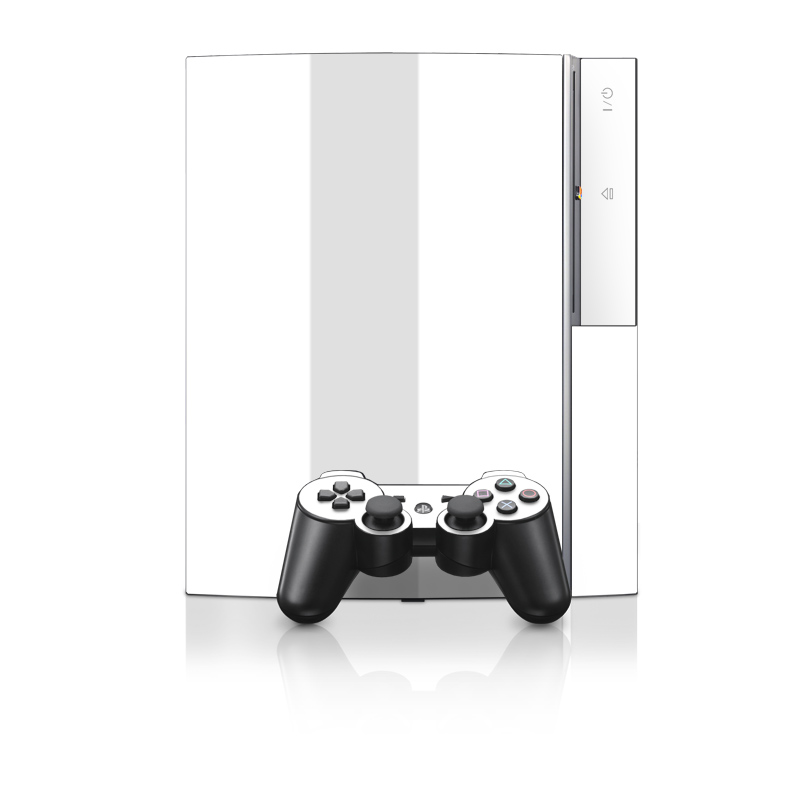 Solid State White PS3 Skin
