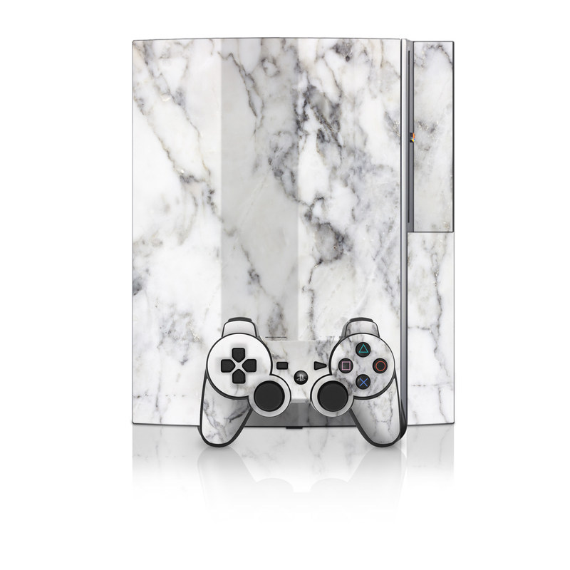 White Marble PS3 Skin
