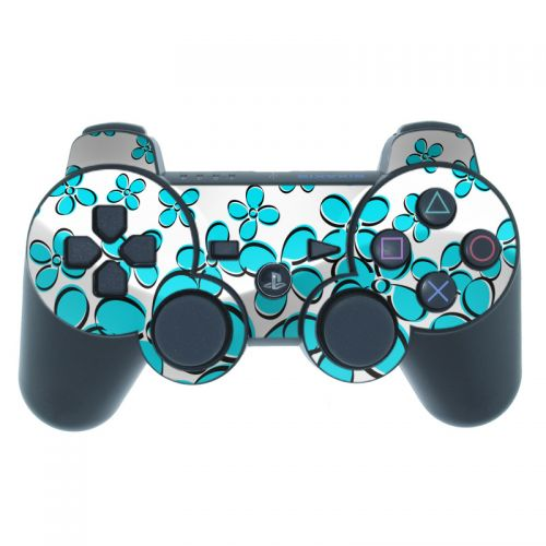 Daisy Field - Teal PS3 Controller Skin