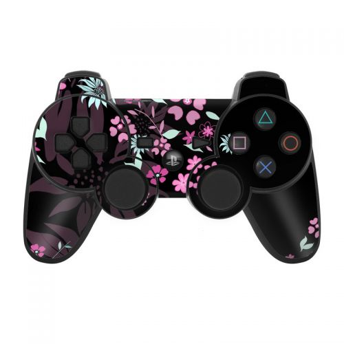 Dark Flowers PS3 Controller Skin