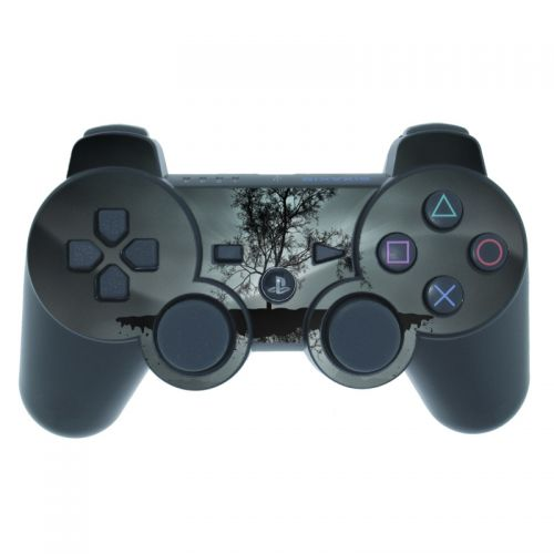 Flying Tree Black PS3 Controller Skin