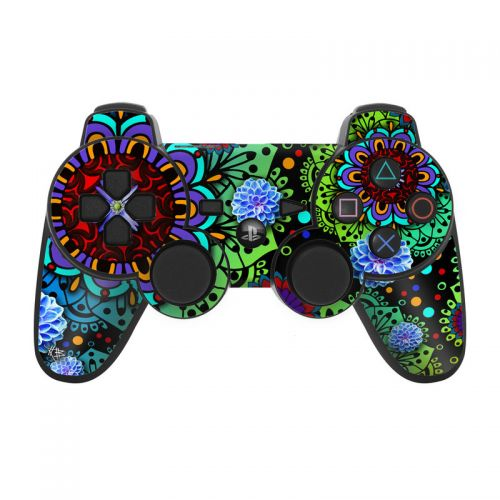 Funky Floratopia PS3 Controller Skin