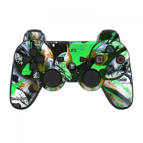 Green 1 PS3 Controller Skin