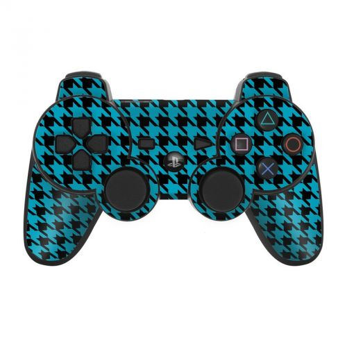 Teal Houndstooth PS3 Controller Skin